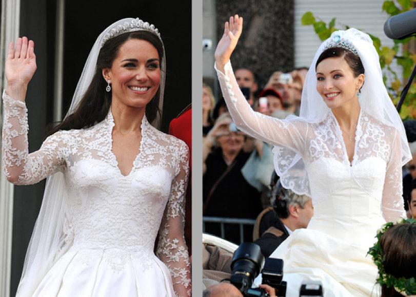 Kate Middleton (kairėje, 2011 m.), Isabella Orsini (dešinėje, 2009 m.)
