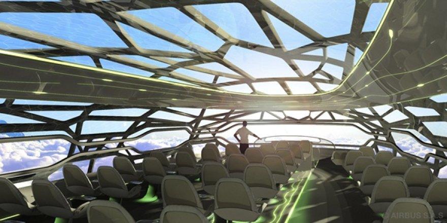 """""""Airbus"""" koncepcinio lėktuvo salonas"""