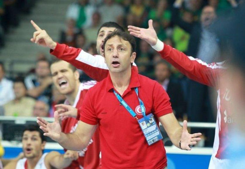 Turkijos rinktinės treneris Orhunas Ene