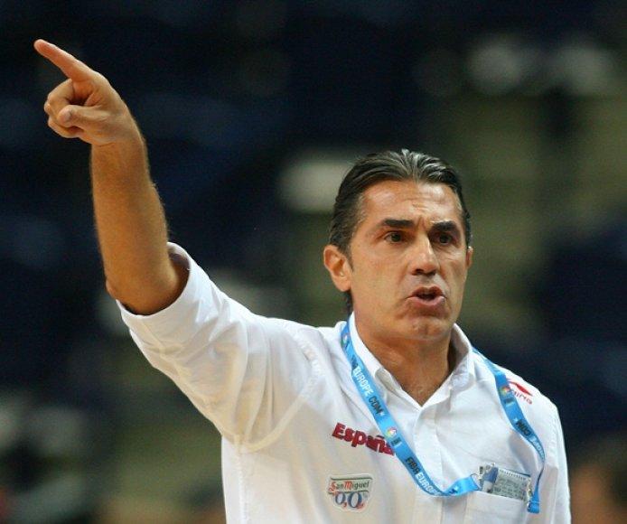 Ispanijos vyrų krepšinio rinktinės treneris Sergio Scariolo