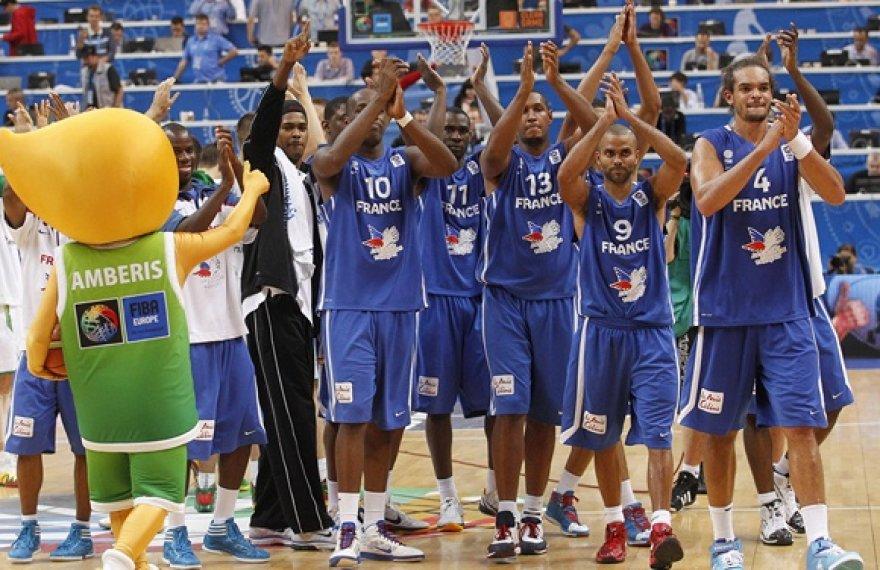 Amberis ir Prancūzijos krepšininkai