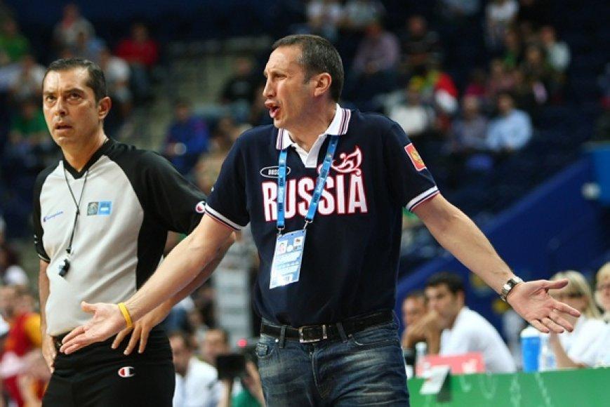 Rusijos krepšinio rinktinės treneris Davidas Blattas