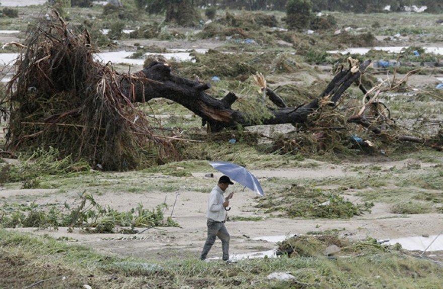 Taifūno padariniai centrinėje Japonijos dalyje