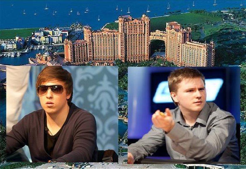 Kristijonas Andrulis ir Dominykas Karmazinas