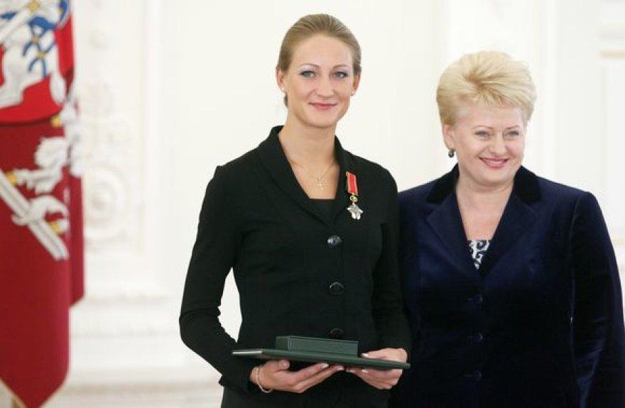 Donata Rimšaitė ir Dalia Grybauskaitė