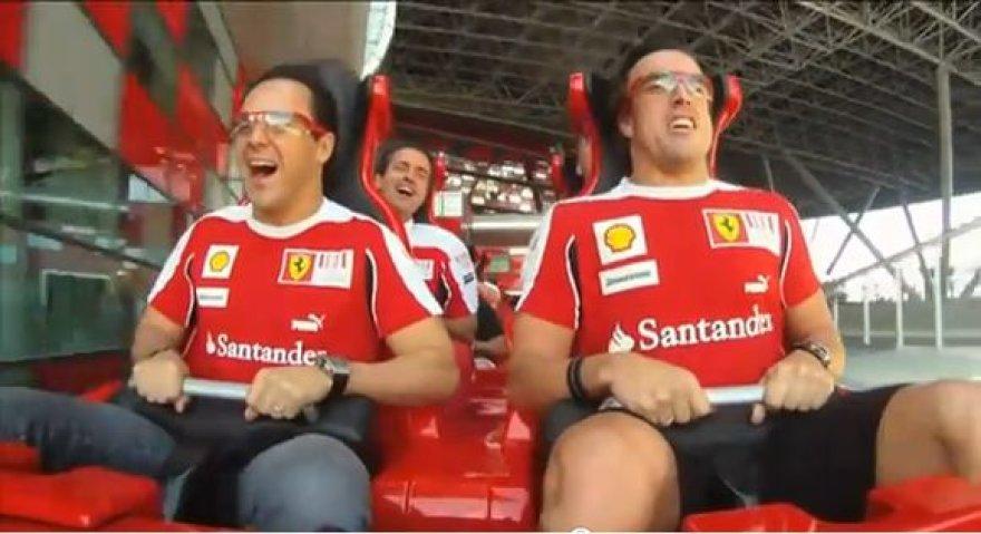 Alonso ir Massa savo kailiu išbandė naujausius atrakcionus
