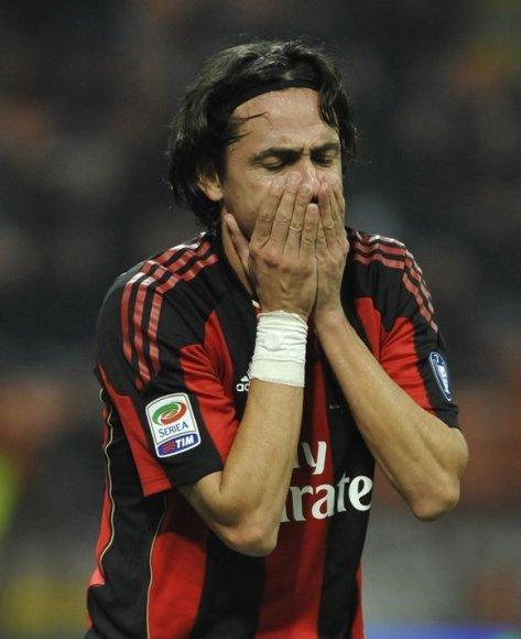 """F.Inzaghi susižeidė mače su """"Palermo"""""""