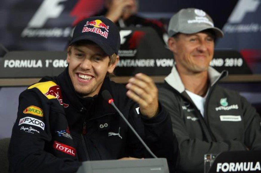 S.Vettelis ir M.Schumacheris