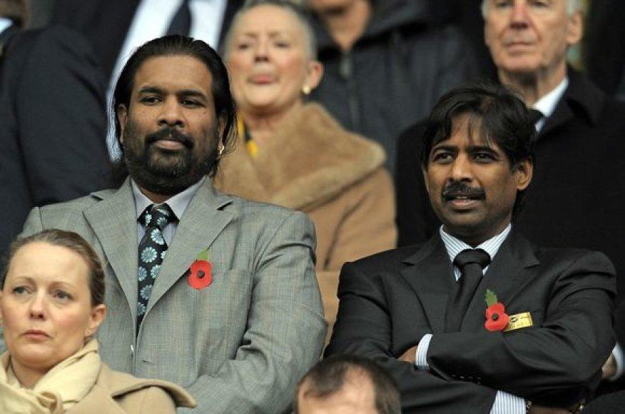 Broliai Balaji ir Venkateshas Rao – naujieji klubo savininkai
