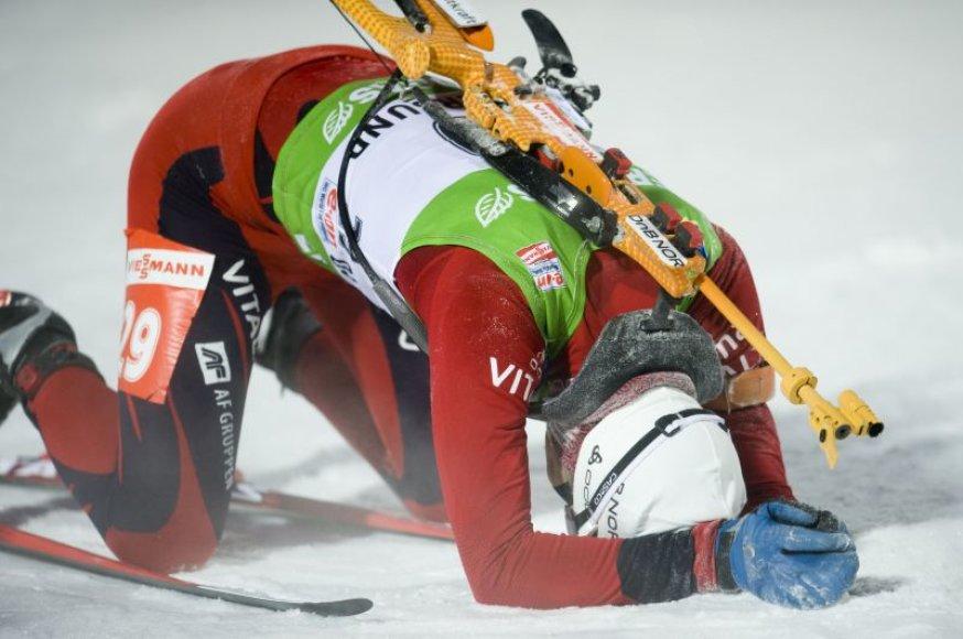 O.E.Bjoerndalenas dėl grubios klaidos neiškovojo dar vienos pergalės