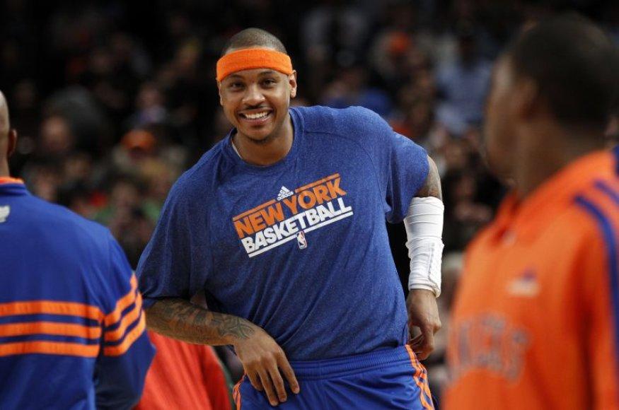 Carmelo Anthony pelnė 27 taškus.