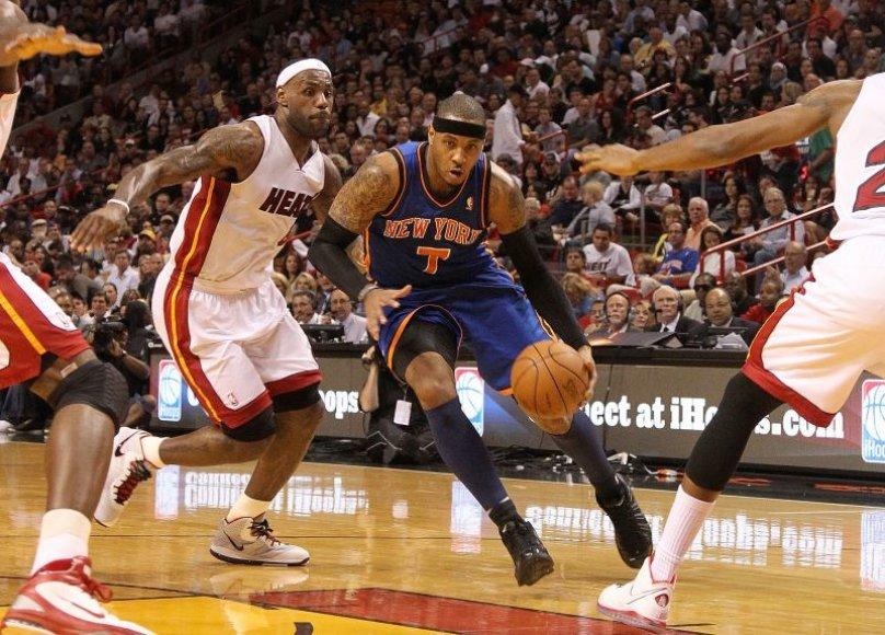Carmelo Anthony prieš LeBroną Jamesą