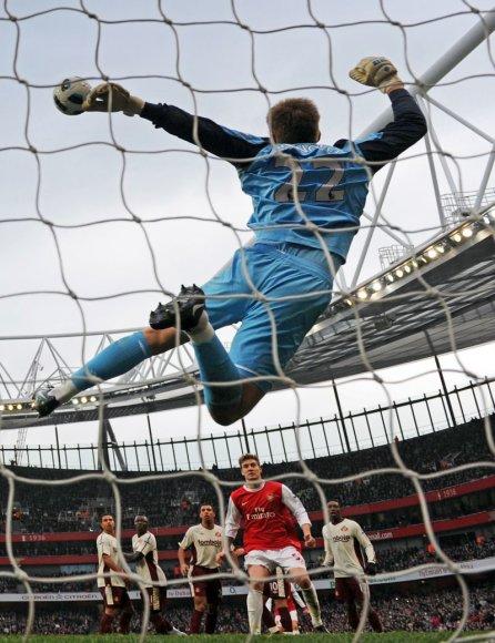 Londono futbolininkai mačą baigė lygiosiomis