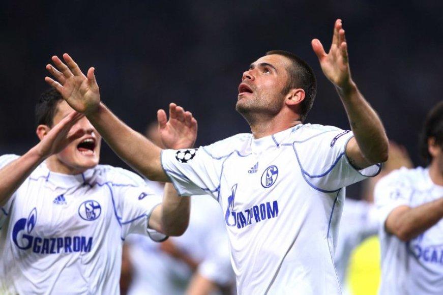 "Rungtynių tarp ""Schalke"" ir ""Inter"" akimirka"