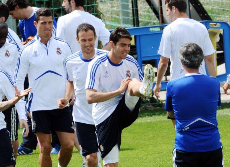Madrido futbolininkai treniruotėje