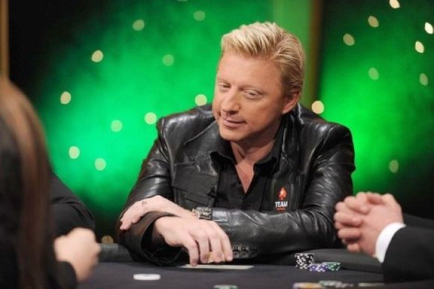 Borisas Beckeris prie pokerio stalo
