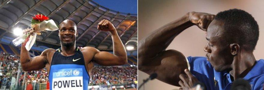 Asafa Powellas ir Usainas Boltas
