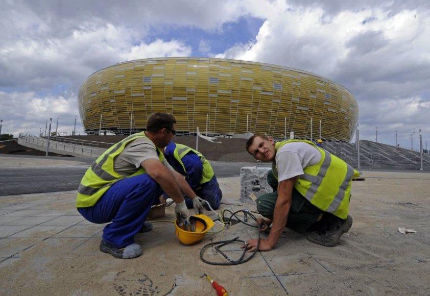Paskutiniai darbai prie Gdansko futbolo stadiono