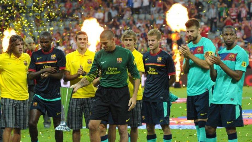 Miunchene triumfavo Barselonos futbolininkai
