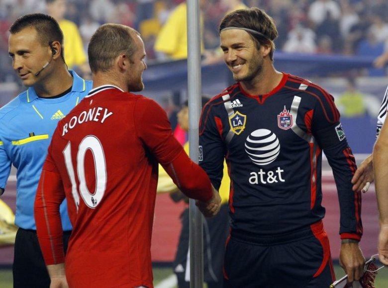 W.Rooney ir D.Beckhamas