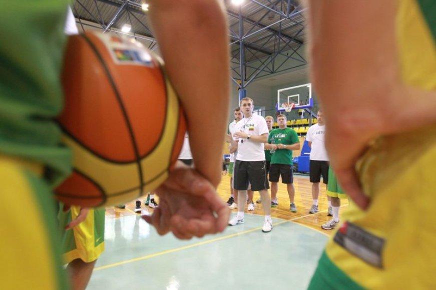 Lietuvos rinktinė šįvakar išbandys jėgas su slovėnais
