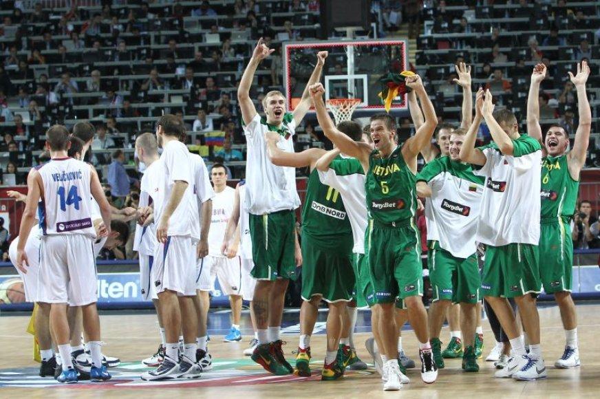 Pasaulio čempionato bronziniame finale Serbijos rinktinė turėjo pripažinti Lietuvos krepšininkų pranašumą