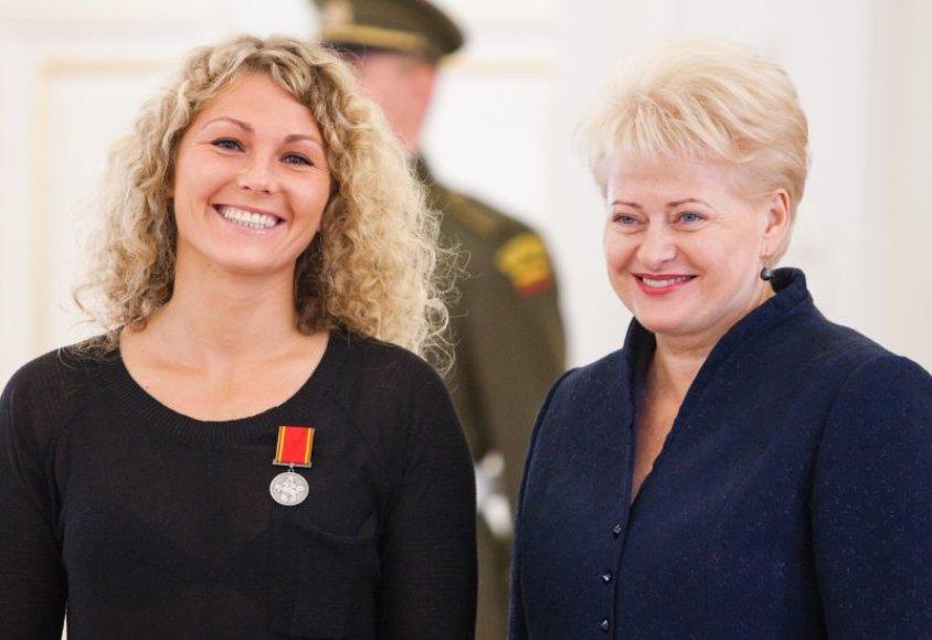 Margarita Čiuplytė ir prezidentė Dalia Grybauskaitė