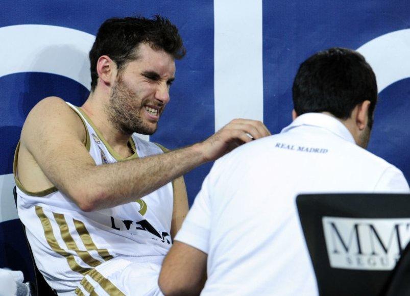 Rudy Fernandezas greičiausiai paskutinėse runtynėse Europoje patyrė nedidelę traumą