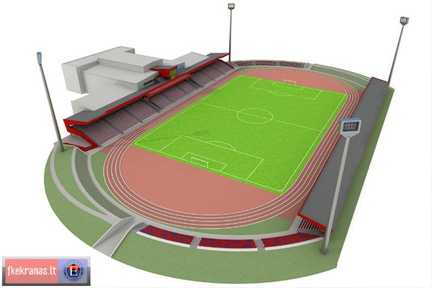 Stadiono rekonstrukcijos maketas