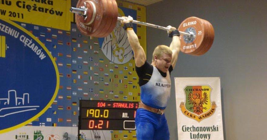 Žygimantas Stanulis – Europos jaunių sunkiosios atletikos čempionas