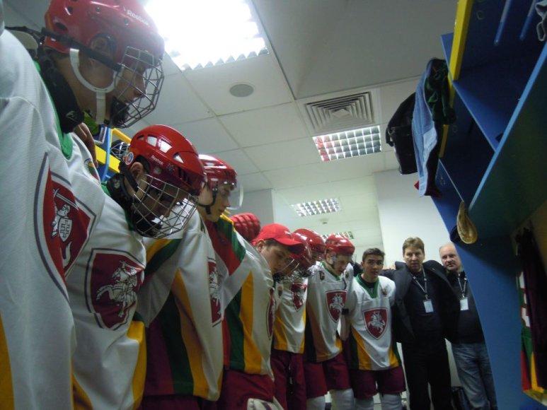 Pasaulio jaunimo ledo ritulio čempionate Lietuva iškovojo pirmą pergalę