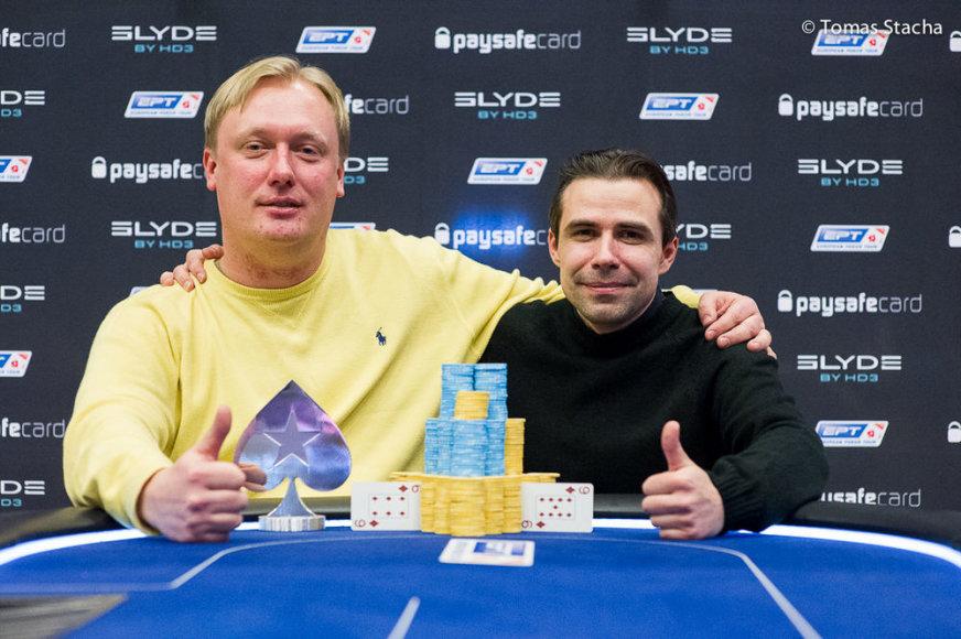 L.Petruškevičius (kairėje) ir A.Babičius / PokerStarsBlog.com nuotr.