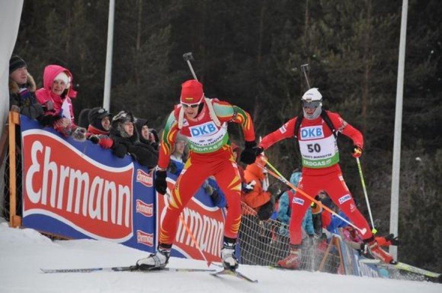 Tomas Kaukėnas biatlono varžybose