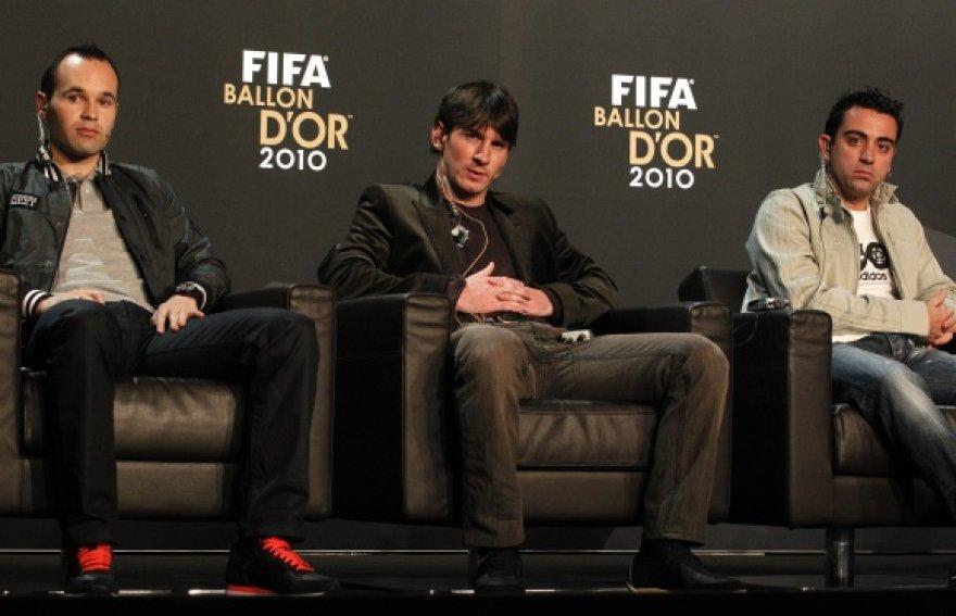 """Visi trys pretendentai pelnyti """"Auksinio kamuolio 2010"""" apdovanojimą"""
