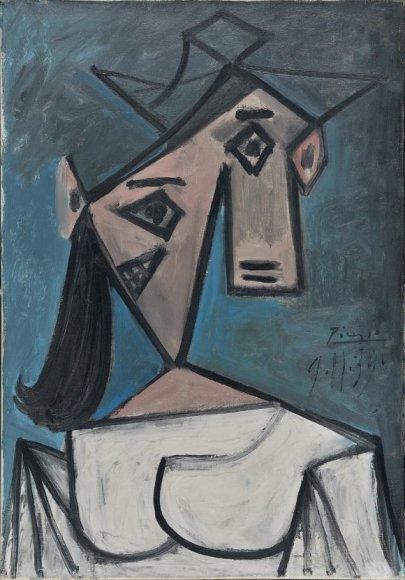 """Pablo Picasso paveikslas """"Moters galva"""""""