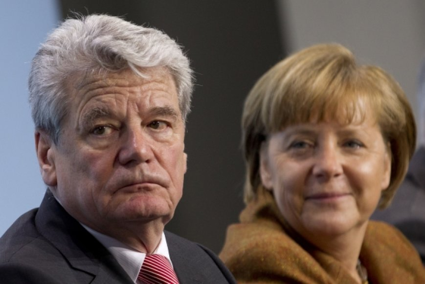 Joachimas Gauckas ir Angela Merkel