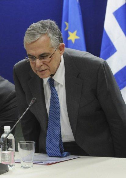 Graikijos premjeras Lukas Papadimas