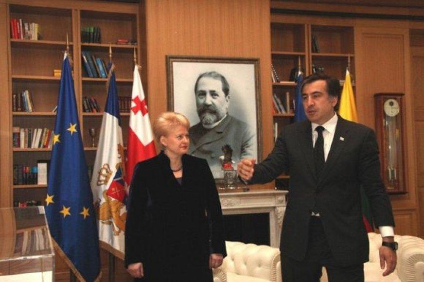 Dalia Grybauskaitė ir Michailas Saakašvilis