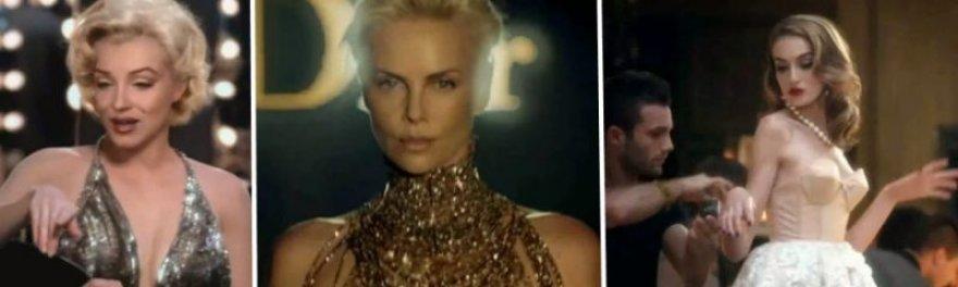 """Charlize Theron """"Dior"""" kvepalų reklamoje su didžiojo ekrano legendomis"""