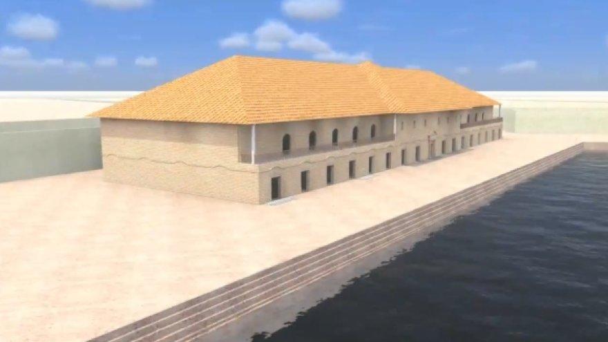 Mokslininkų sukurta Portus uosto vizualizacija.