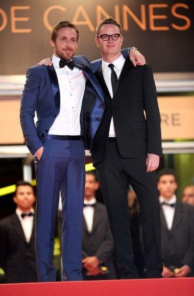 Ryan Gosling (kairėje) ir Nicolas Winding Refn