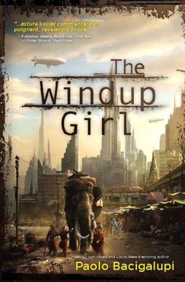 "Knygos viršelis/Knygas ""The Windup Girl"""