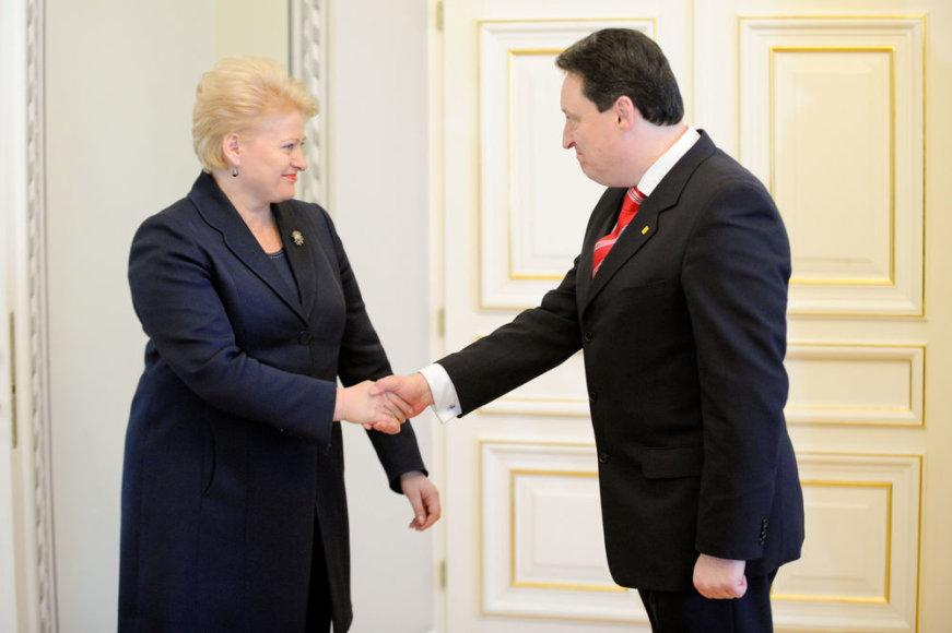 Dalia Grybauskaitė ir Artūras Melianas