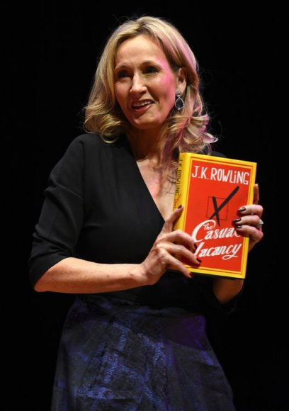 Joanne Rowling pristatė naują knygą