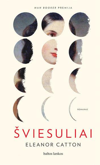 """Knygos viršelis/Eleanor Catton """"Šviesuliai"""""""