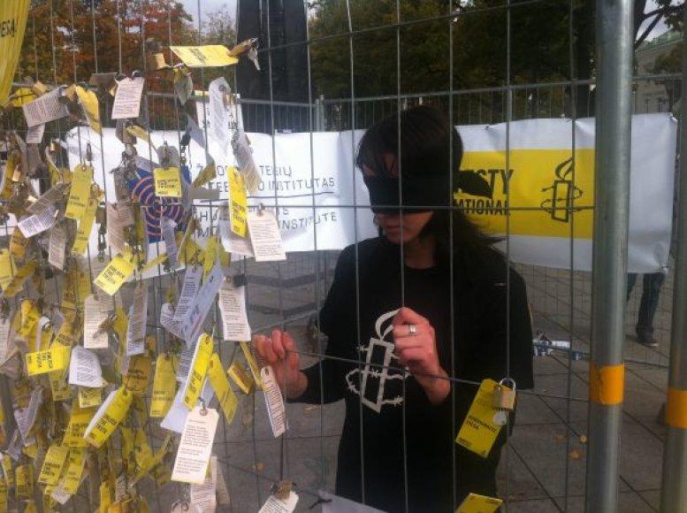 Amnesty International protesto akcija Vilniuje