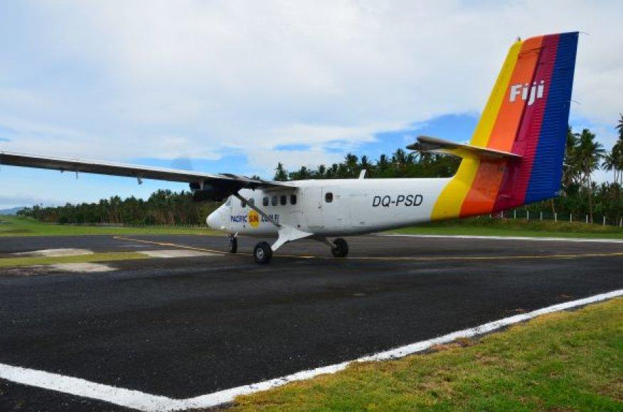 Atvykimas į Taveuni salą