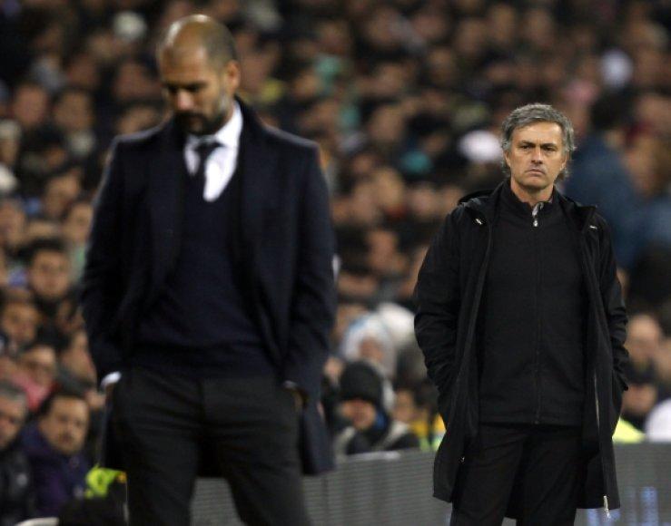 Pepas Guardiola ir Jose Mourinho