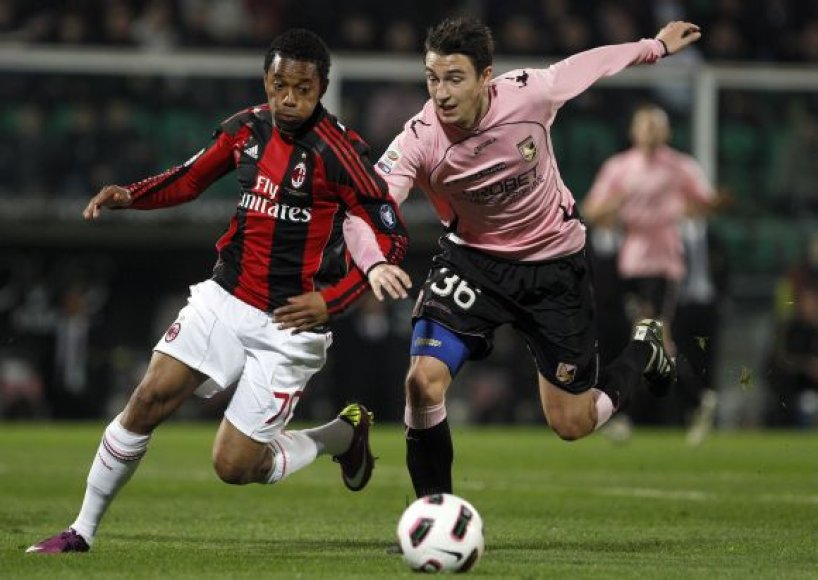 """""""Palermo"""" – """"Milan"""" rungtynių akimirka"""