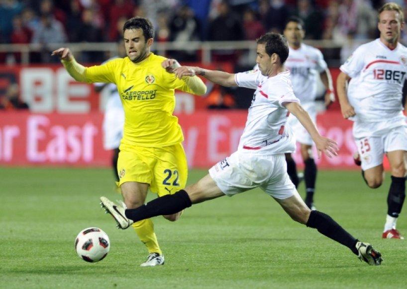"""Sevilla"" – ""Villarreal"" rungtynių akimirka"